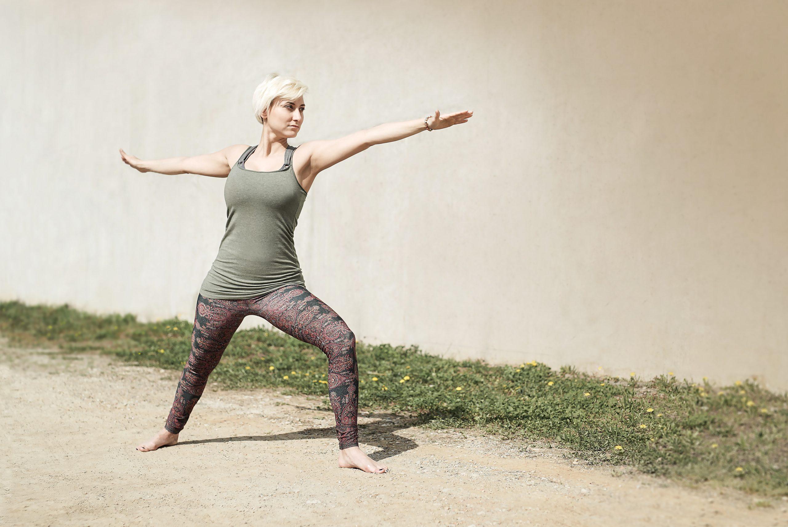 Yoga-Position: Krieger 2
